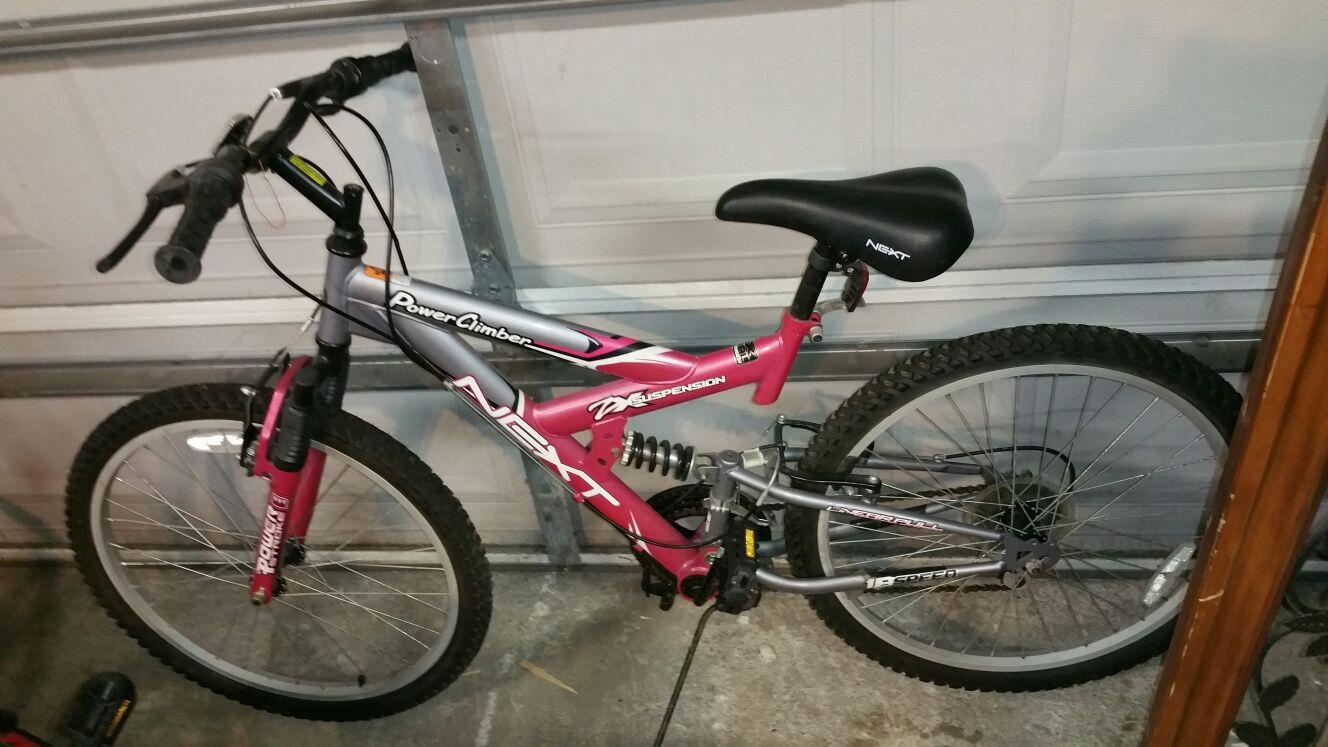 Girls next bicycle