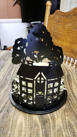 Metal lighted candle with pip berries for Sale in Farmville, VA