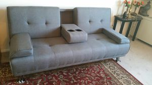 Brand new grey linen futon for Sale in Silver Spring, MD