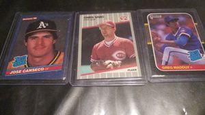 Rookie Card s MLB Jose Canseco Chris Sabo Greg Maddux Vintage Original for Sale in Chandler, AZ