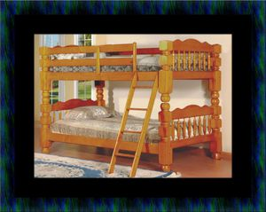 Wooden twin bunkbed frame with 2 mattress for Sale in Fairfax, VA