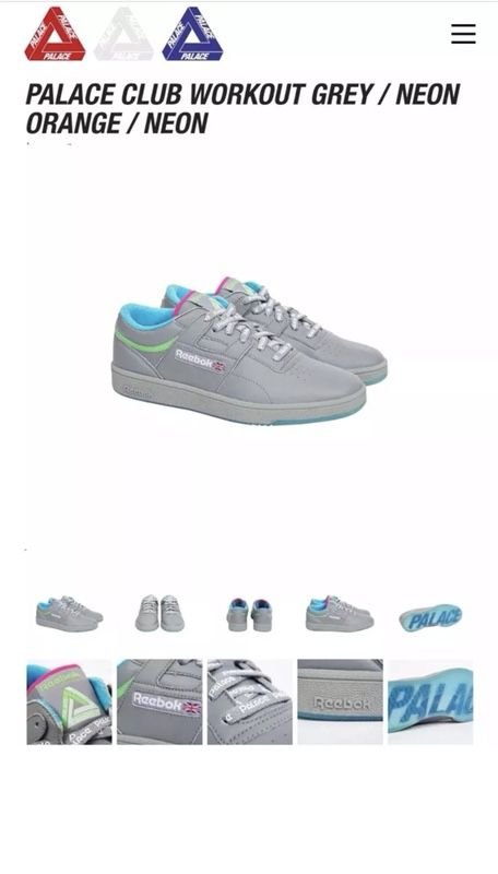 8e90aa2f81983b PALACE X REEBOK CLUB WORKOUT SUPREME SOLD OUT for Sale in Diamond ...