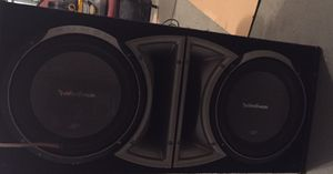 """Rockford fisgare p2 12"""" subs and box for Sale in Fort Washington, MD"""