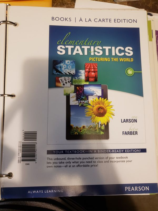 Elementary statistics 6th ed for Sale in Fort Worth, TX - OfferUp