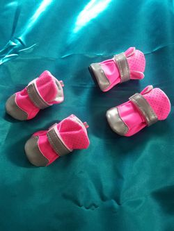 Brand new pink puppy booties Thumbnail