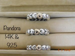 f55185d90 Retired Pandora 14K & 925 My One True Love Big Gold Heart Ring, all are  sized 5.75-6 / 52 (190898) for Sale in Virginia Beach, VA - OfferUp