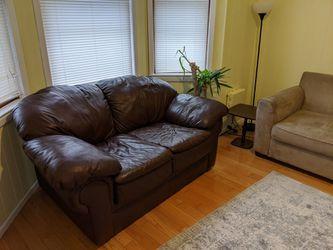 Loveseat Sofa Leather Thumbnail
