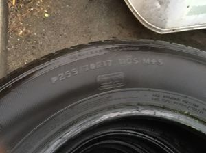 Have vary nice 4 pair used tire 255/70/R17 all is $180 for Sale in Aldie, VA