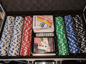 Poker chip set with dice for Sale in Falls Church, VA