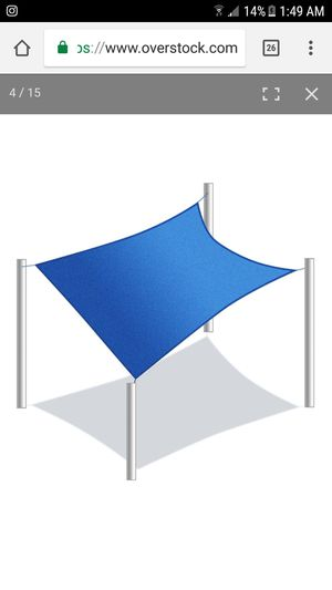 Rectangle 18 X 18 Feet Waterproof Sun Shade Sail Canopy Tent Replacement for Sale in Holtsville, NY