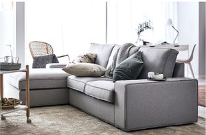 Sofa and chaise. Sectional couch for Sale in Gaithersburg, MD