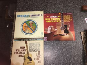 Hank Williams vintage Vinyl Record country lot of 3 greatest hits 1 & 2 for Sale in Houston, TX