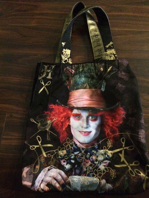 edb652e6d1 Disney Loungefly Alice in Wonderland Mad Hatter Johnny Depp canvas bag for  Sale in Hillsboro