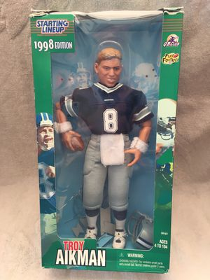 Photo Dallas Cowboys - Troy Aikman 1998 Starting Lineup 12 action figure.
