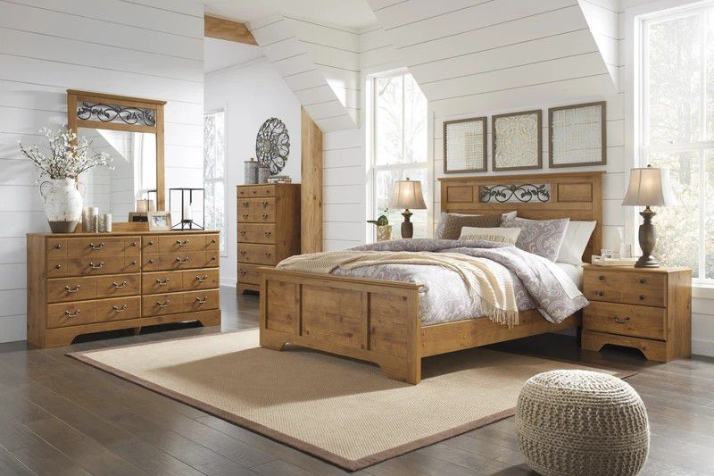 🚛Same Day Delivery👉Bittersweet Light Brown Bedroom Set💰Financing available
