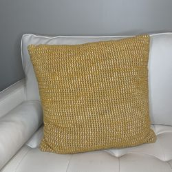 Mustard Color Accent Pillow | Yellow Accent Pillow | Textured Accent Pillow Thumbnail