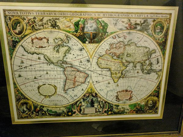 Antique World Map For Sale In Sunrise Fl Offerup