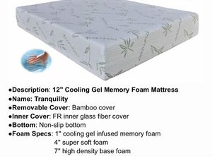 Brand New Queen Size 12 Inch Gel Memory Foam Mattress for Sale in Silver Spring, MD