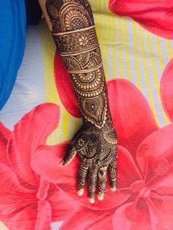Desi bridal henna Thumbnail