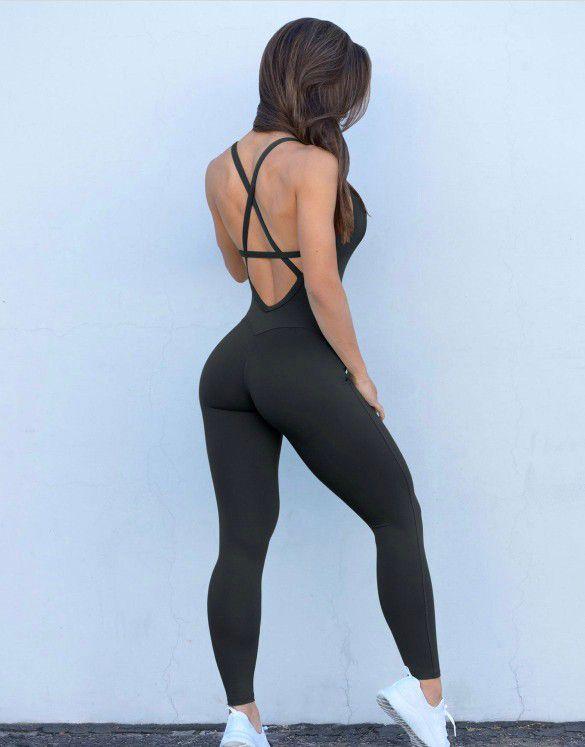 Bombshell Sportswear Black Bodysuit (Small)