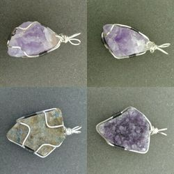 Amethyst Pendants wire wrapped Thumbnail