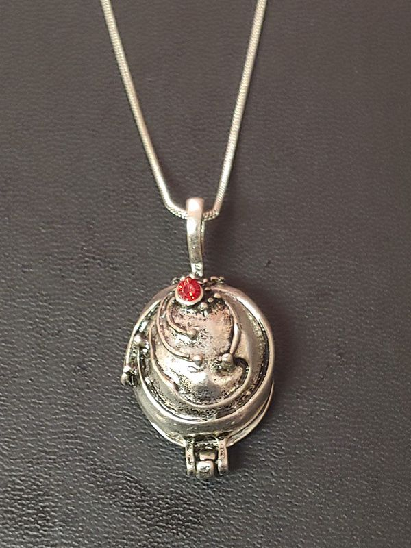 Brand New Vampire Diaries Elena Gilbert Vervain Antique Silver & Red  Crystal Locket necklace for Sale in NW PRT RCHY, FL - OfferUp