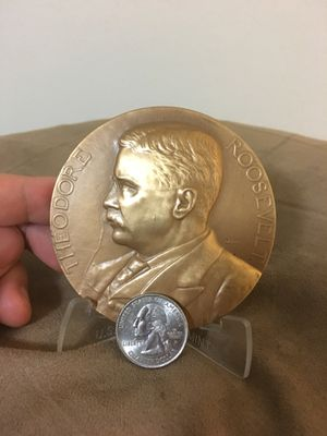"""Giant Theodore """"Teddy"""" Roosevelt Coin/Medal for Sale in Silver Spring, MD"""