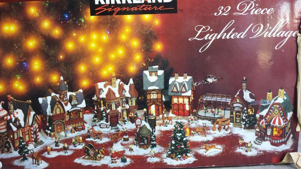 32 Piece Lighted Christmas Village From Costco For Sale