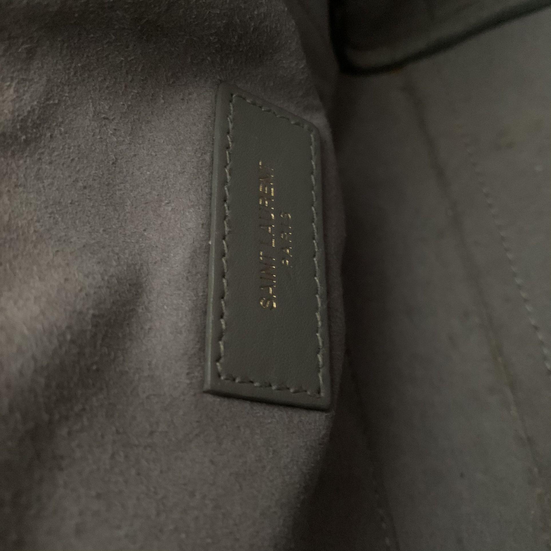 Authentic Saint Laurent Grey Gray Mini Classic Sac Dr Jour Crossbody bag