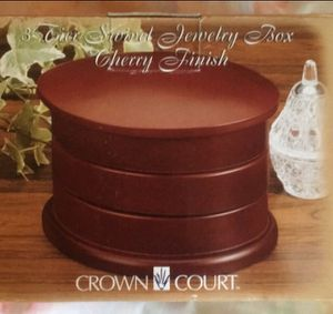 Cherrywood 3 Tier Swivel Jewelry Box by Crown Court for Sale in Adelphi, MD
