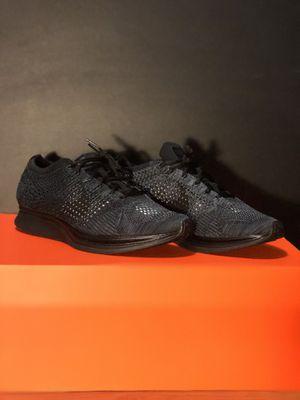 0598af8f385 Nike Flynit Trainer Triple Black Running Shoe Size  7