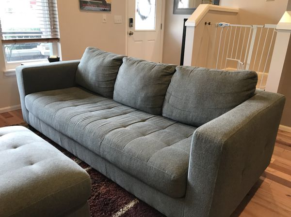 Kasala Pacifica Grey Sofa And Ottoman