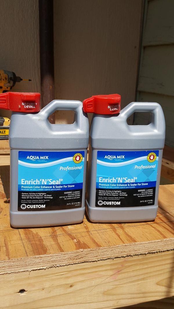 Aqua mix, Enrich'N'Seal Premium Color Enhancer & Sealer for Stone  for Sale  in San Antonio, TX - OfferUp