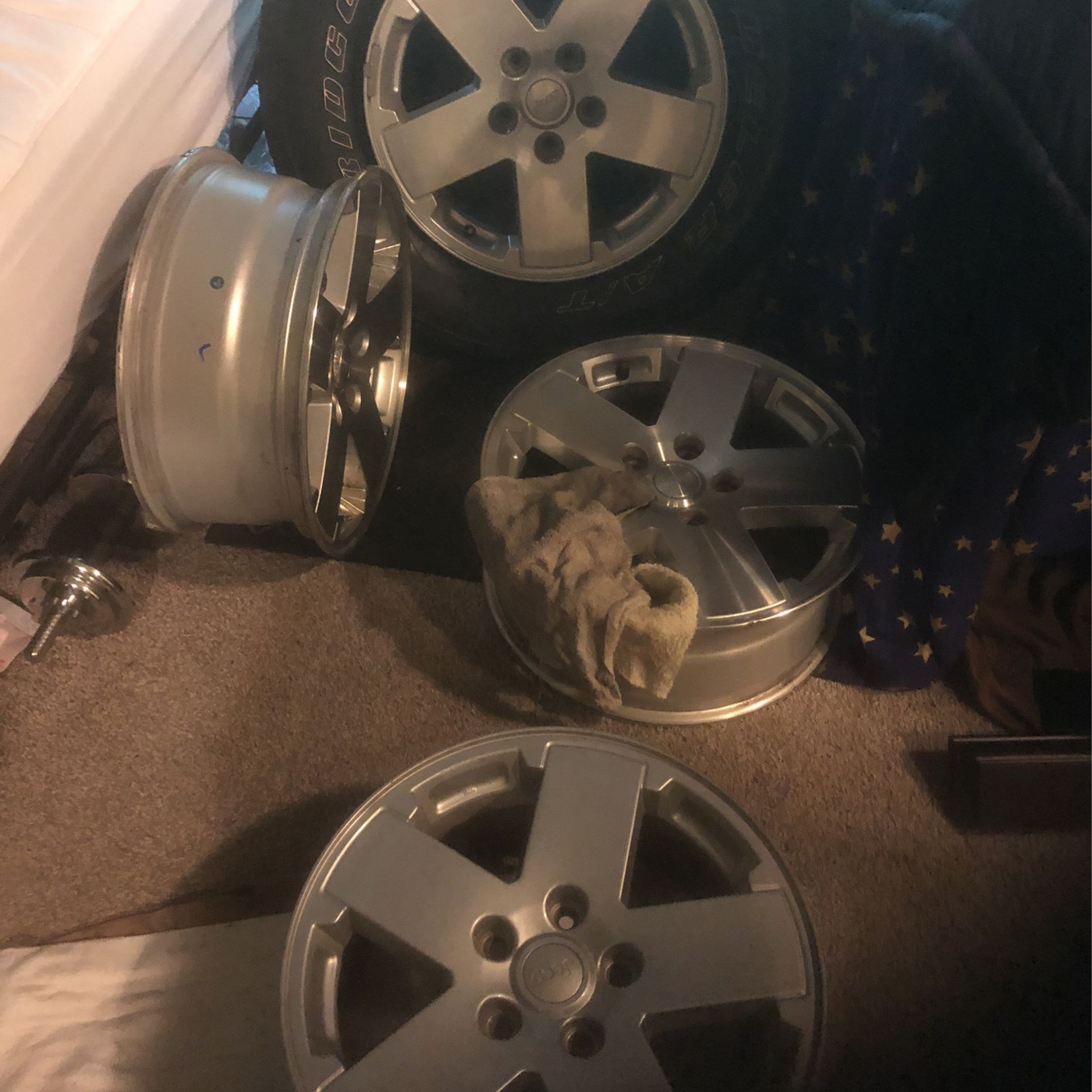 "Jeep  18""   Wheels  $100"