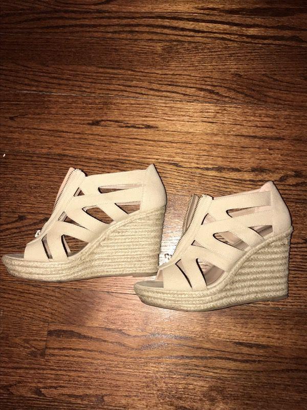 2e7d308ec3e Size 10 - Women s Ruth Canvas Zipper Wedge Espadrille Sandals - Merona™