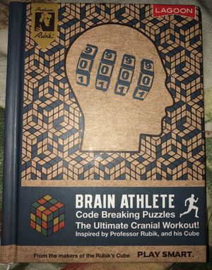Brain Athlete Book made by Rubik's Cube. Has games- code breaking puzzles - riddles to solve... Great secret Santa gift or stocking stuffer. for Sale in Wesley Chapel, FL