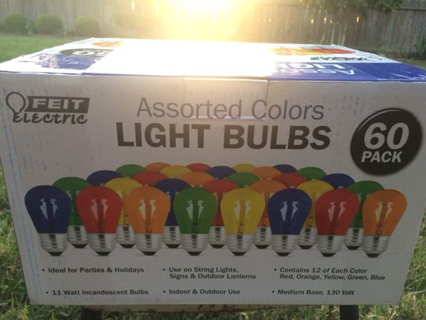 Feit Electric 60pack Orted Colors Light Bulbs