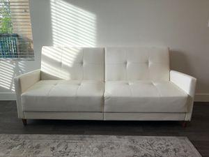 Las Vegas Nv White Faux Leather Futon For In Henderson