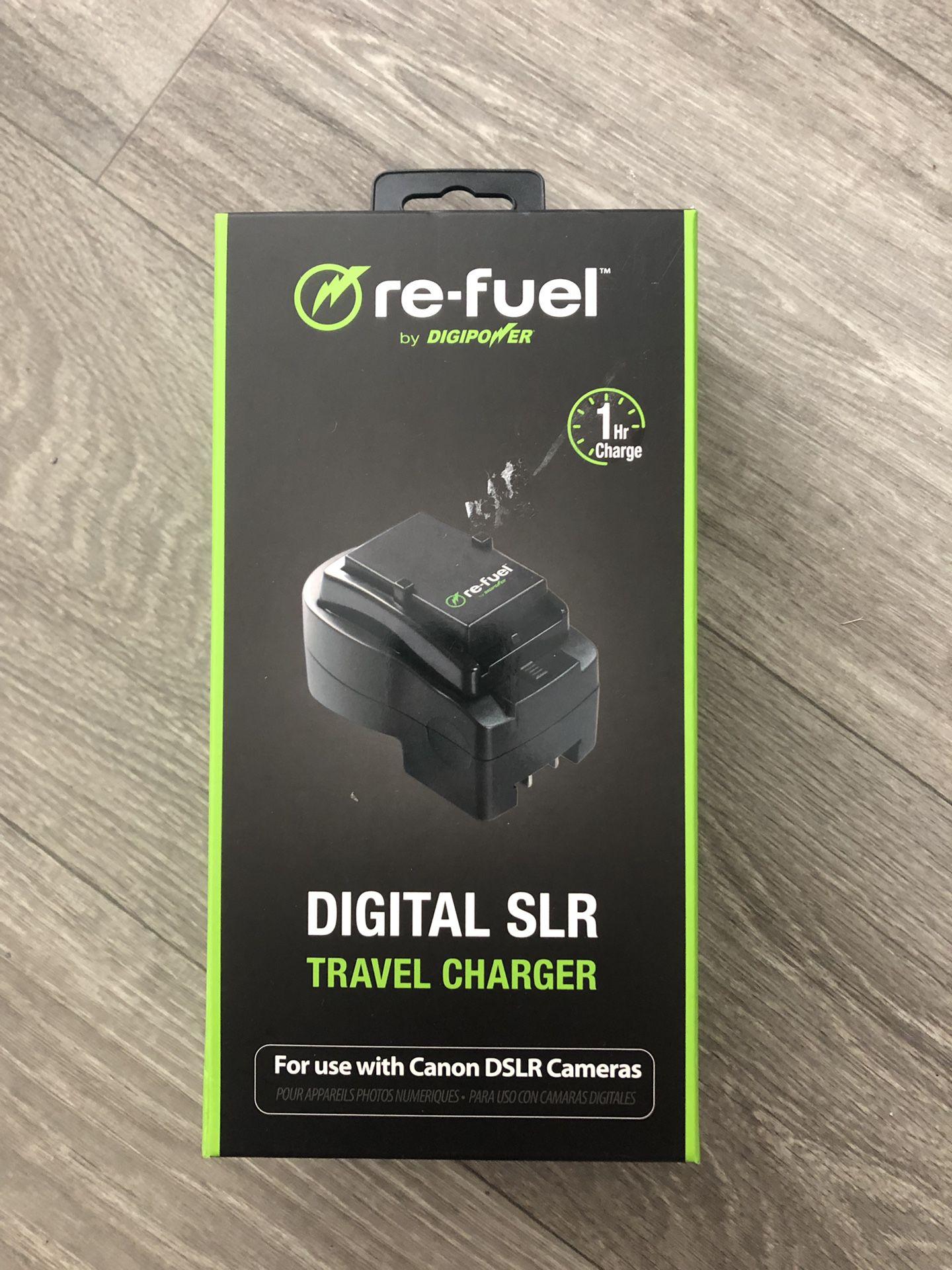 Refuel digital SLR travel charger for Canon DSLRs