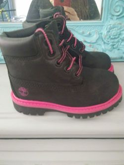 Timberland lil girl boots size 6 Thumbnail