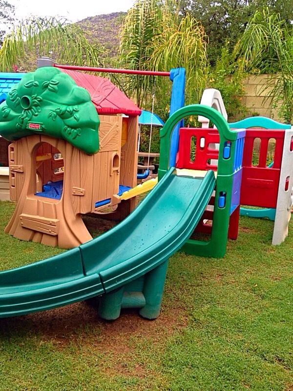 Fisher Price Backyard Treehouse With Climber Amp Slide