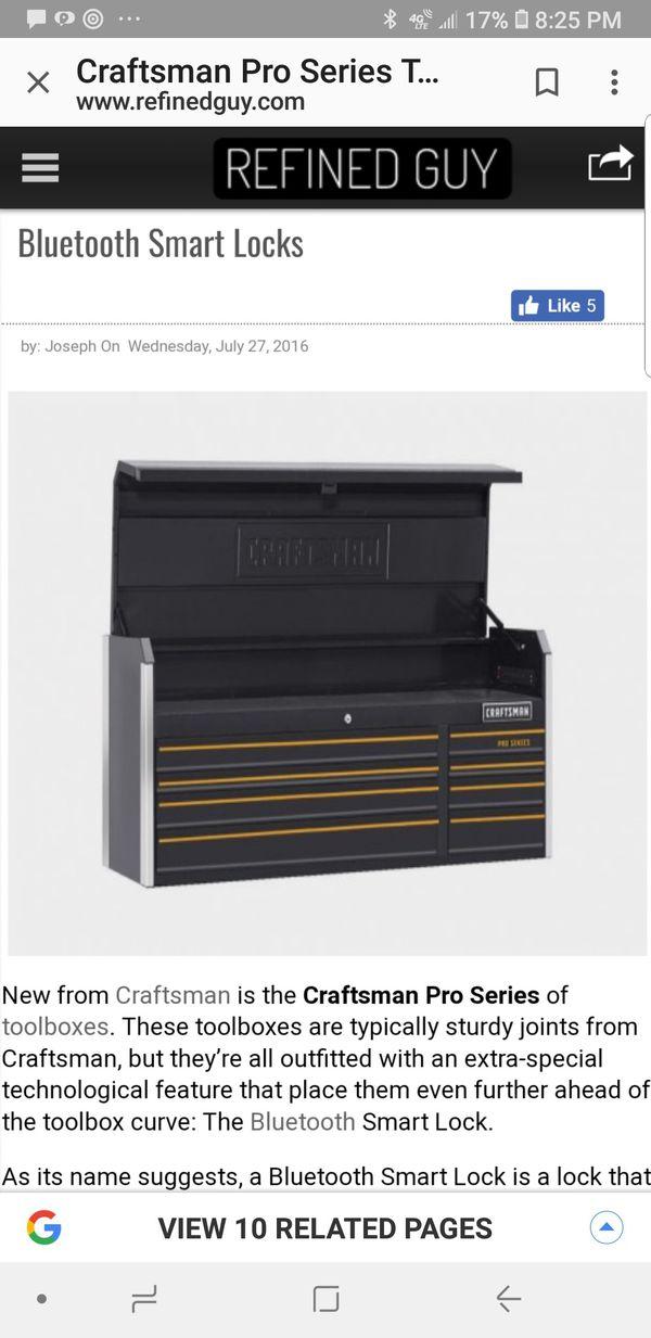 Craftsman pro series tool box with smart lock