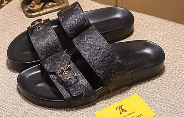 504cb8e752d4 LOUIS VUITTON Black LV Mirabeau Mule Sandals Size 10.5 Men for Sale ...