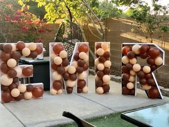 Mosaic Balloons number/letter Thumbnail