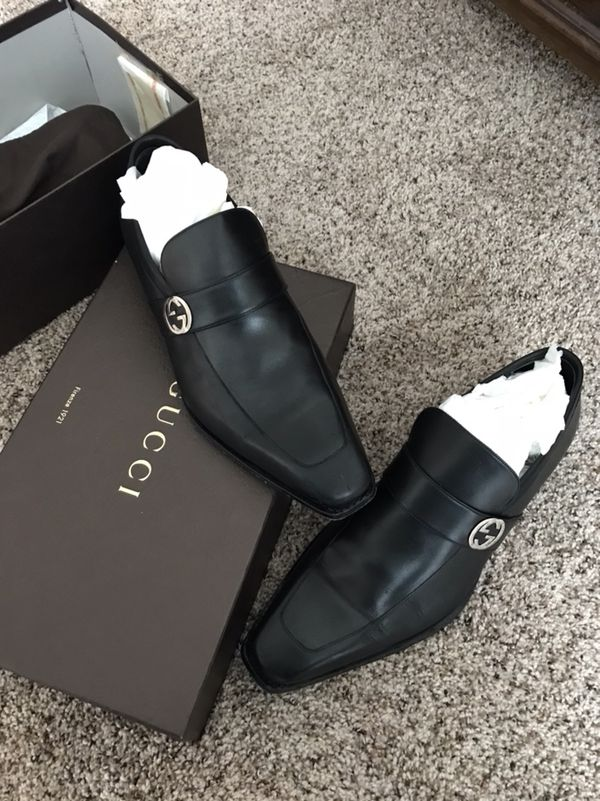 f63db4e755e Men s GUCCI  Double G  Black Leather Loafers Size GUCCI 10.5-D for ...