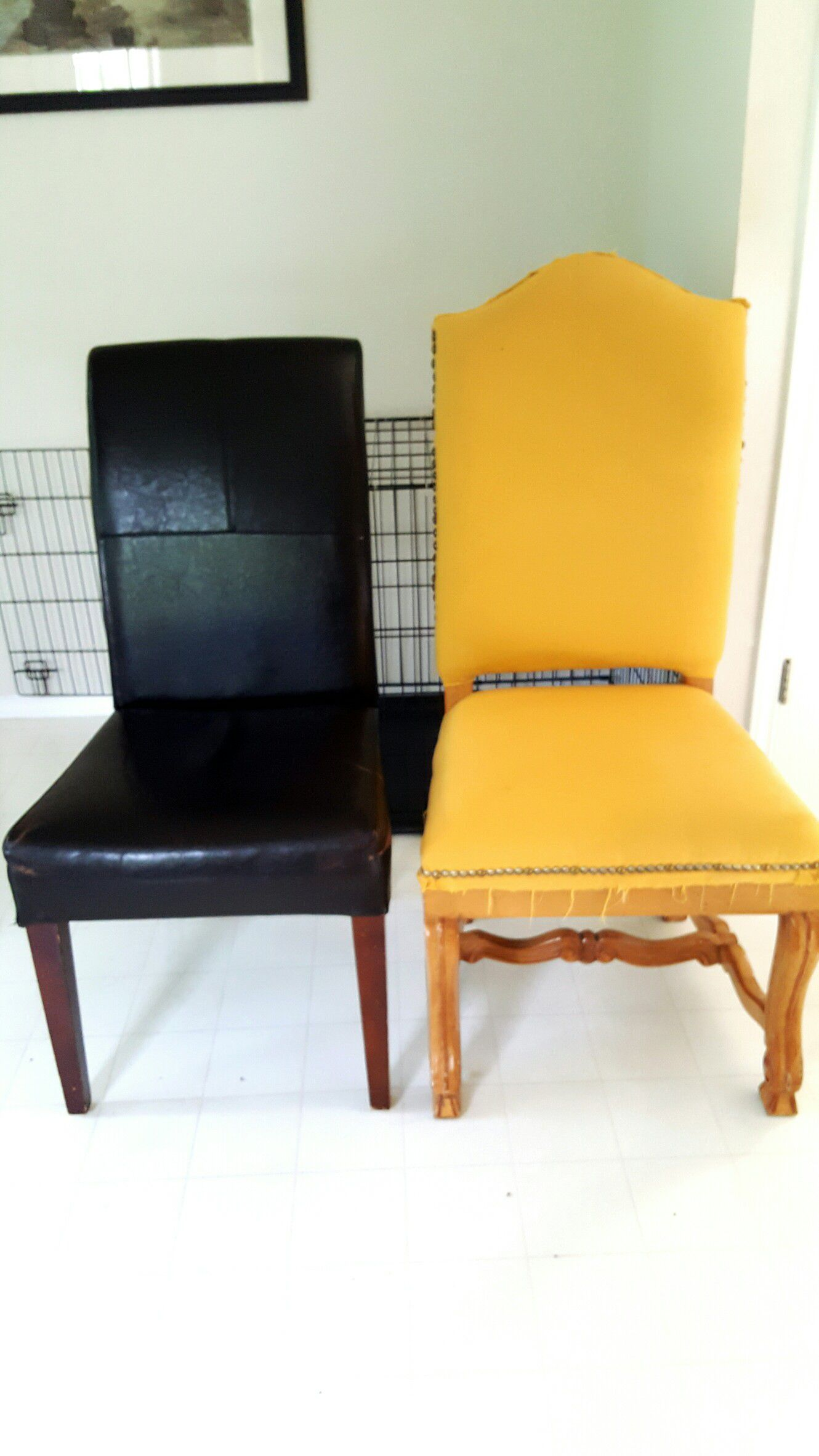 Antique style upholstered chair