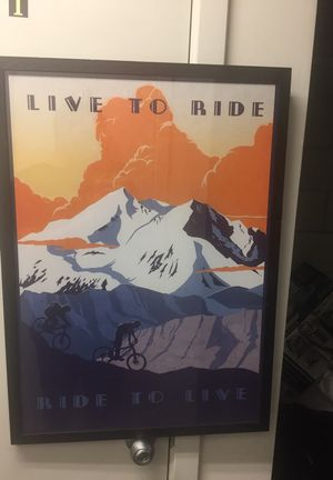 Beautiful Mountain biking poster for sale for Sale in San Francisco, CA