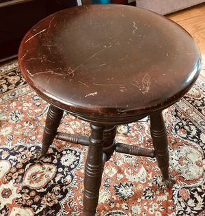 19th century mahogany piano stool for Sale in Alexandria, VA