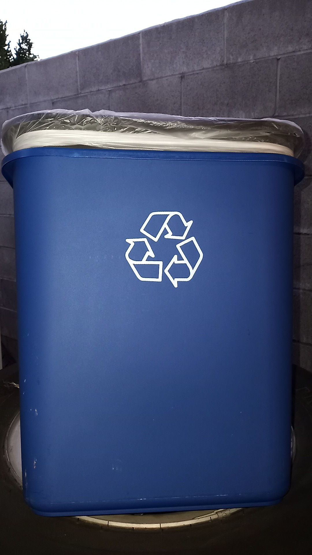 Rubbermaid trash can