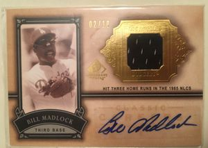 Bill Madlock - AUTO JERSEY RELIC BASEBALL CARD #2/10! :: 2005 UD SP Legendary Cuts (NM) for Sale in Rockville, MD